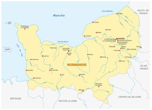 karte normandie Normandie Karte | Ferienhaus Normandie